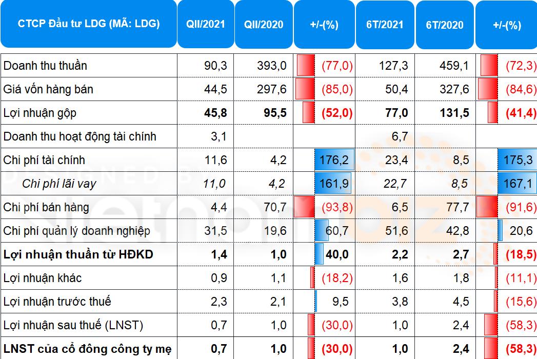 LDG Group lãi ròng 1 tỷ đầu trong nửa đầu năm - Ảnh 1.