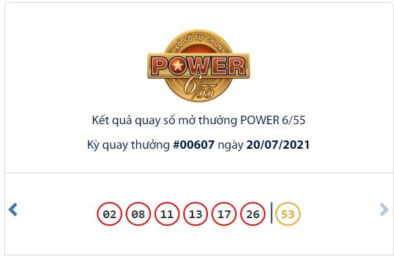 Kết quả Vietlott Power 6/55 ngày 20/7: hụt chủ cho cả 2 giải thưởng lớn - Ảnh 1.
