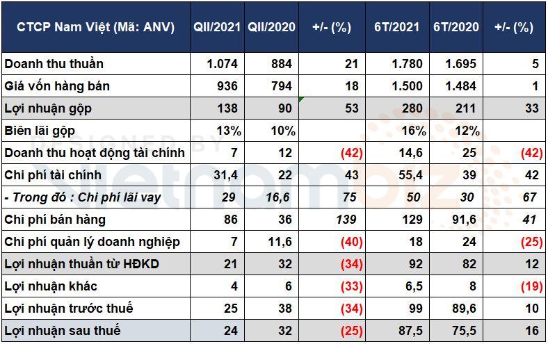 Nam Việt báo lãi ròng giảm 25% trong quý II do chi phí cước tàu, vận chuyển tăng mạnh - Ảnh 1.