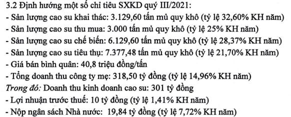 Cao su Phước Hòa đặt kế hoạch lợi nhuận quý III chỉ 10 tỷ đồng - Ảnh 1.