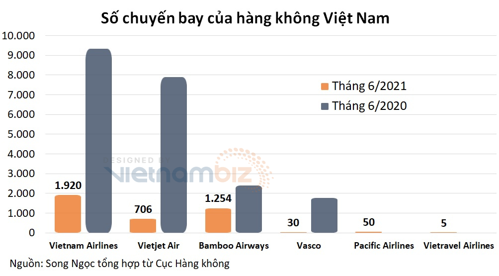 Số chuyến bay tháng 6 bằng chưa đầy 1/5 cùng kỳ, ngành hàng không càng thêm khó - Ảnh 1.