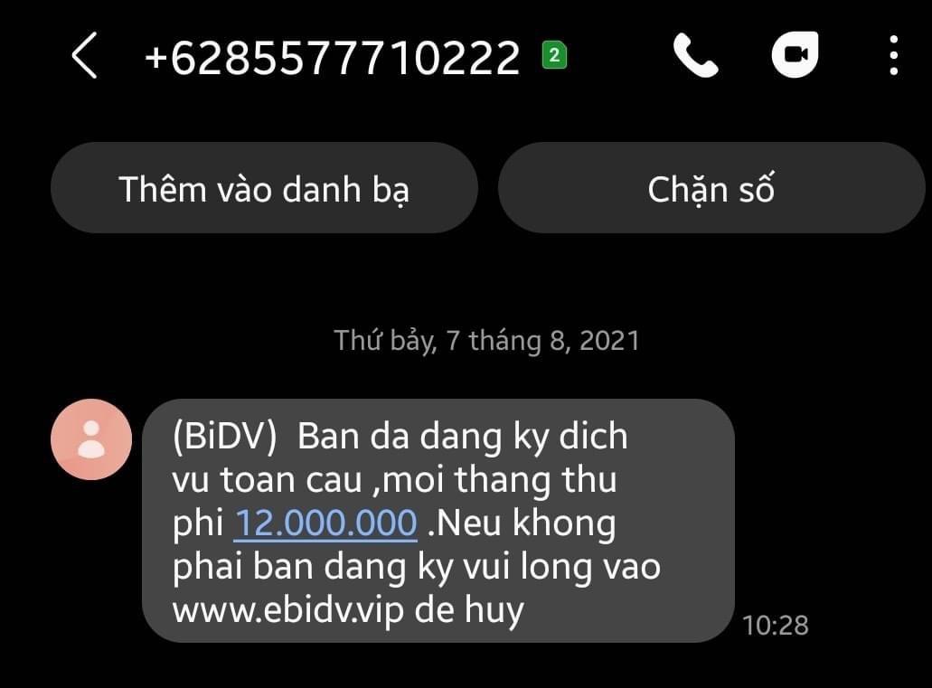 Cảnh giác với tin nhắn lạ mạo danh ngân hàng - Ảnh 1.