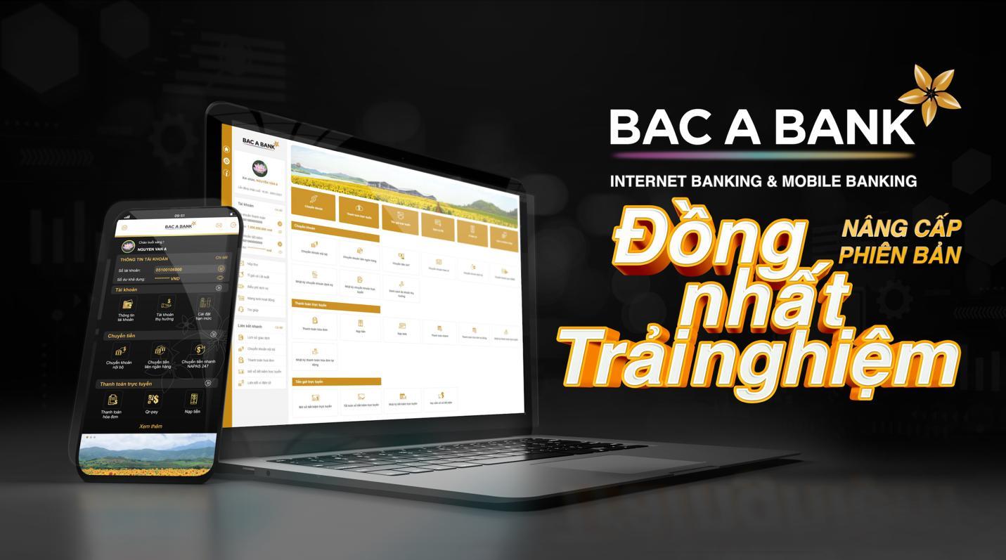Bac A Bank chính thức ra mắt Internet Banking & Mobile Banking phiên bản mới - Ảnh 1.