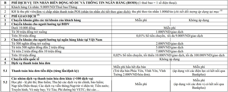 SMS Banking BIDV: Hướng dẫn đăng ký, cách sử dụng và biểu phí dịch vụ - Ảnh 3.