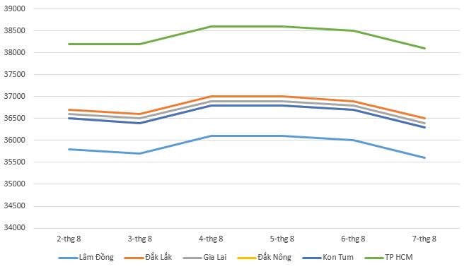 Giá cà phê hôm nay 8/8: Thị trường ghi nhận xu hướng giảm trong tuần qua - Ảnh 1.