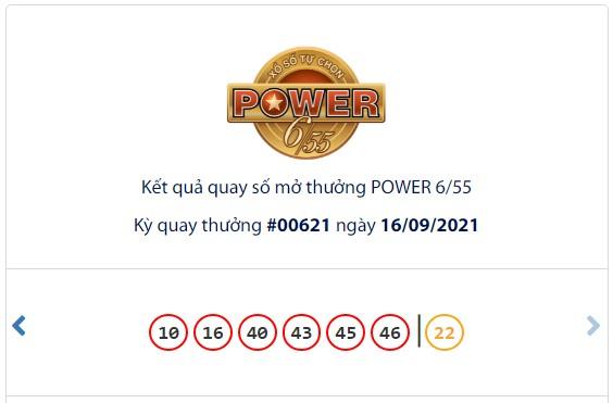 Kết quả Vietlott Power 6/55 ngày 16/9: Jackpot hơn 53,7 tỷ đồng tiếp tục đợi chủ - Ảnh 1.