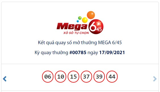 Kết quả Vietlott Mega 6/45 ngày 17/9: Jackpot hơn 13,5 tỷ đồng hụt chủ - Ảnh 1.