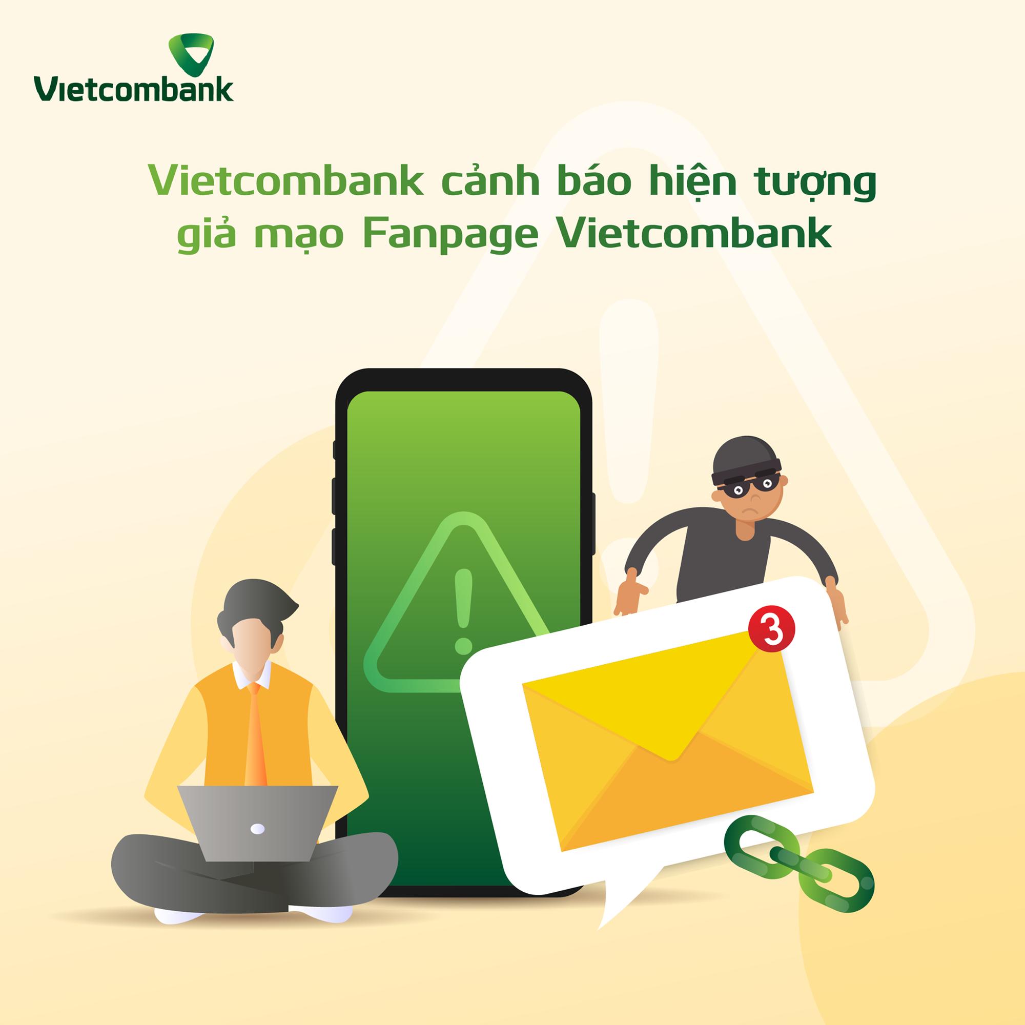 Vietcombank cảnh báo tình trạng xuất hiện Fanpage giả mạo sau lùm xùm các vụ việc sao kê - Ảnh 1.