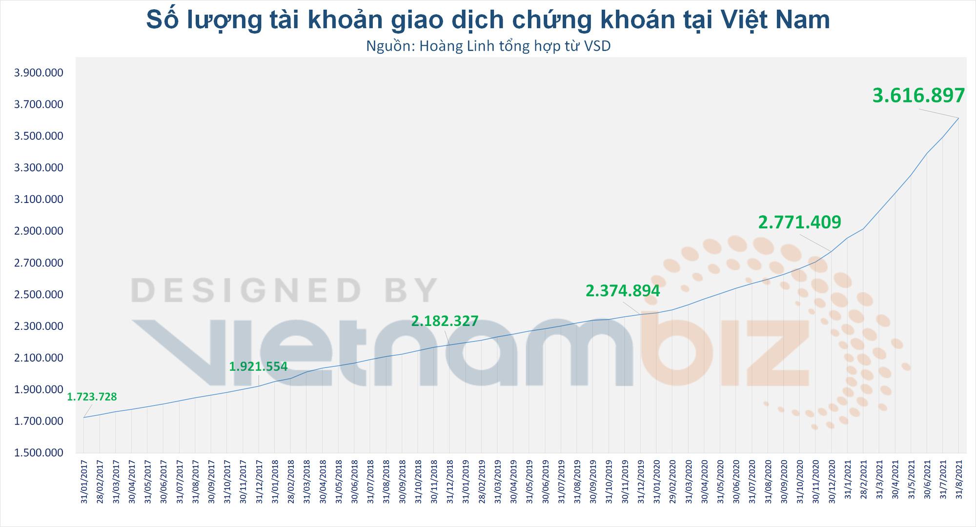 Người dân ồ ạt mở tài khoản chứng khoán giữa mùa dịch, tiến gần mức 4% dân số Việt Nam - Ảnh 2.
