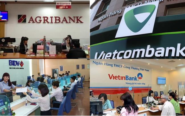 Agribank, Vietcombank, Vietinbank và BIDV sở hữu 43% tổng tài sản và 48% dư nợ cho vay toàn hệ thống - Ảnh 1.