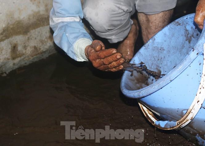 Nghi váng dầu đặc sánh trong bể nước chung cư Golden Land sau sự cố nước Sông Đà - Ảnh 8.