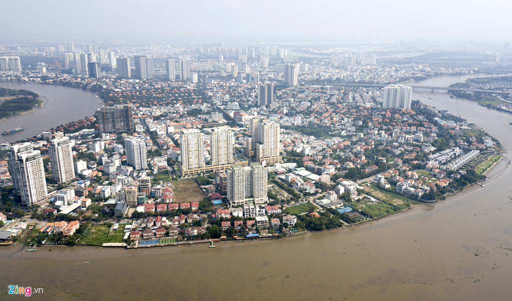 Chung cư, biệt thự ồ ạt mọc lên tại khu nhà giàu bị ngập Thảo Điền - Ảnh 1.