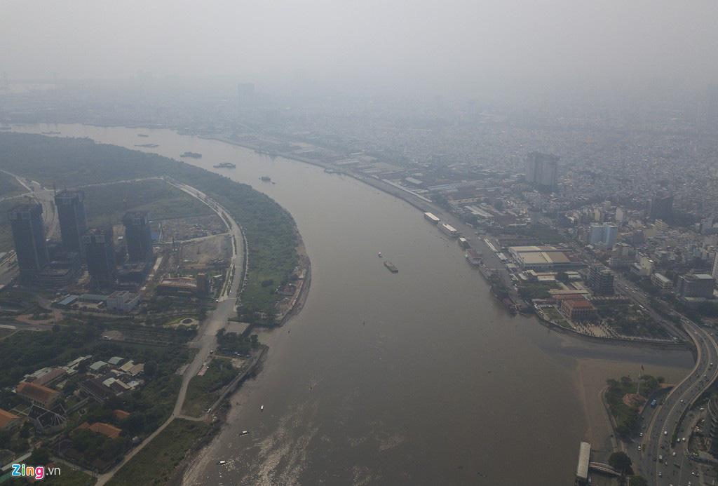 Bầu trời mịt mù thời điểm TP.HCM ô nhiễm thứ 4 thế giới - Ảnh 6.