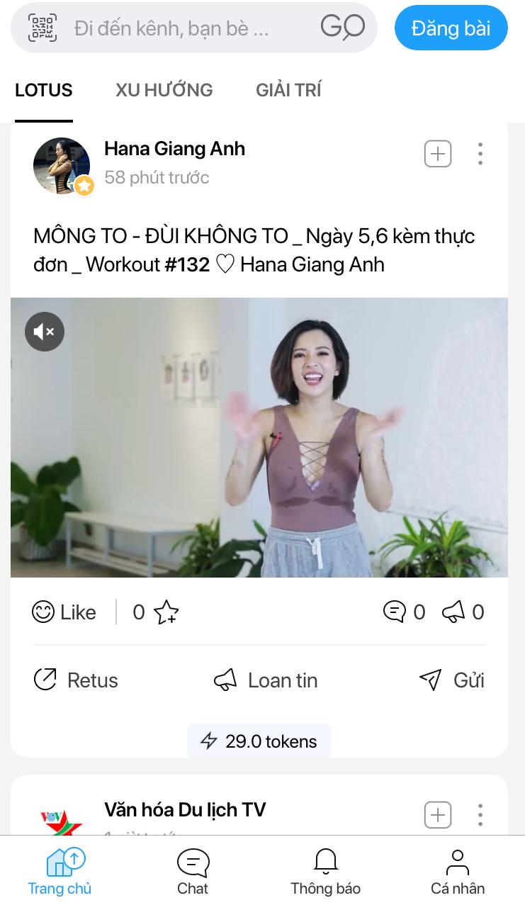KOL Hana Giang Anh trên MXH Lotus
