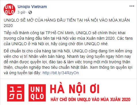 Vừa rầm rộ khai trương cửa hàng đầu tiên tại TP HCM, Uniqlo tính mở thêm cửa hàng đầu tiên tại Hà Nội vào xuân 2020? - Ảnh 2.