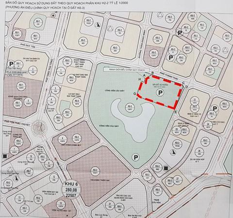 Xin xén công viên Cầu Giấy để làm bãi đỗ xe, nhà hàng tiệc cưới - Ảnh 2.