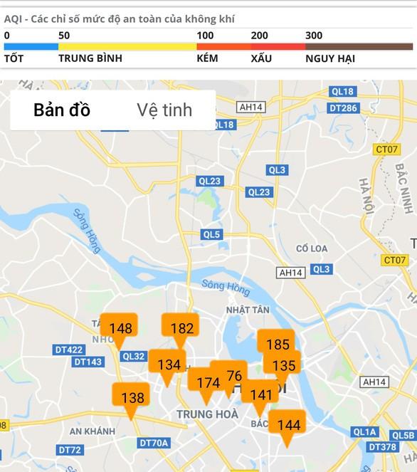 Trời mù mịt, không khí ô nhiễm bao phủ Hà Nội - Ảnh 3.