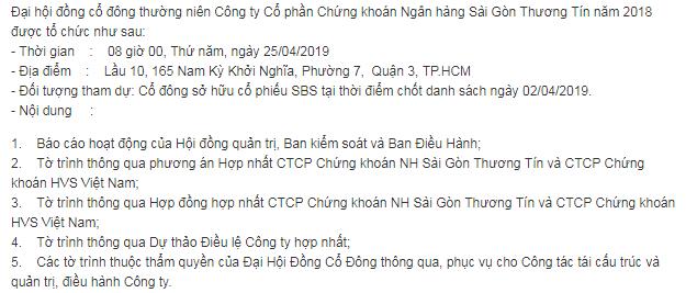Chứng khoán Sacombank và HVS Việt Nam có thể về chung một nhà - Ảnh 1.