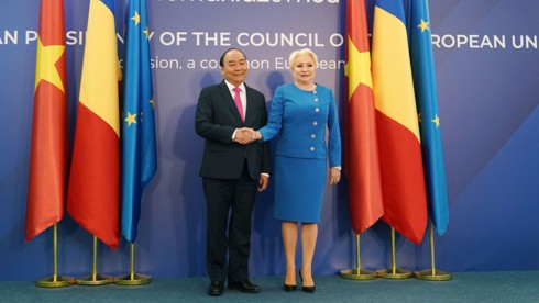 Thủ tướng Nguyễn Xuân Phúc hội đàm Thủ tướng Romania - Ảnh 4.