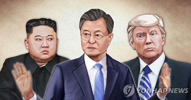 Tổng thống Hàn Quốc mang thông điệp của ông Trump gửi đến ông Kim - Ảnh 1.
