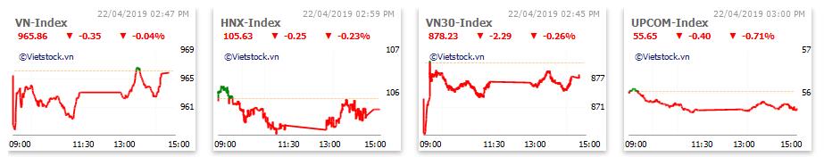 Thị trường chứng khoán 22/4: Ngân hàng, thủy sản lao dốc, VN-Index giữ mốc 965 nhờ nỗ lực nhóm bluechips - Ảnh 1.
