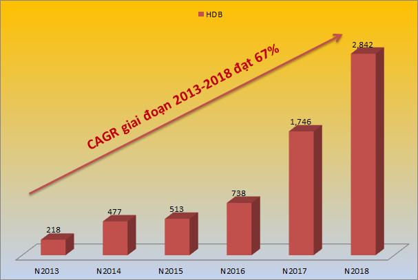 HDBank lọt Top 5 Ngân hàng có tốc độ tăng trưởng nhanh nhất năm 2019 - Ảnh 1.