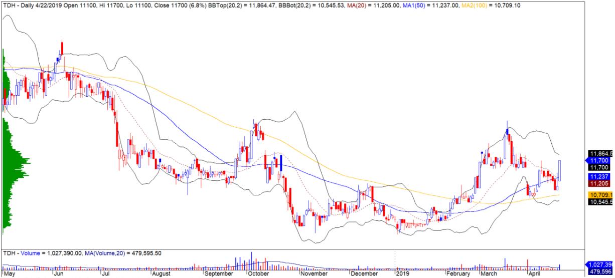 Cổ phiếu tâm điểm ngày 24/4: PVS, DPM, TDH - Ảnh 3.