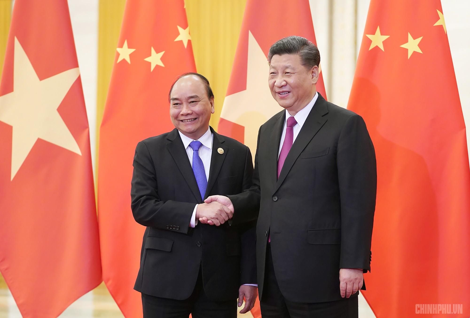 Thủ tướng Nguyễn Xuân Phúc hội kiến Tổng Bí thư, Chủ tịch Trung Quốc Tập Cận Bình - Ảnh 1.