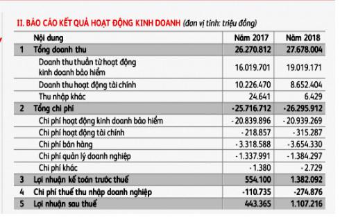 Bảo hiểm Prudential lãi tăng vọt hơn 1.100 tỉ đồng năm 2018 - Ảnh 1.