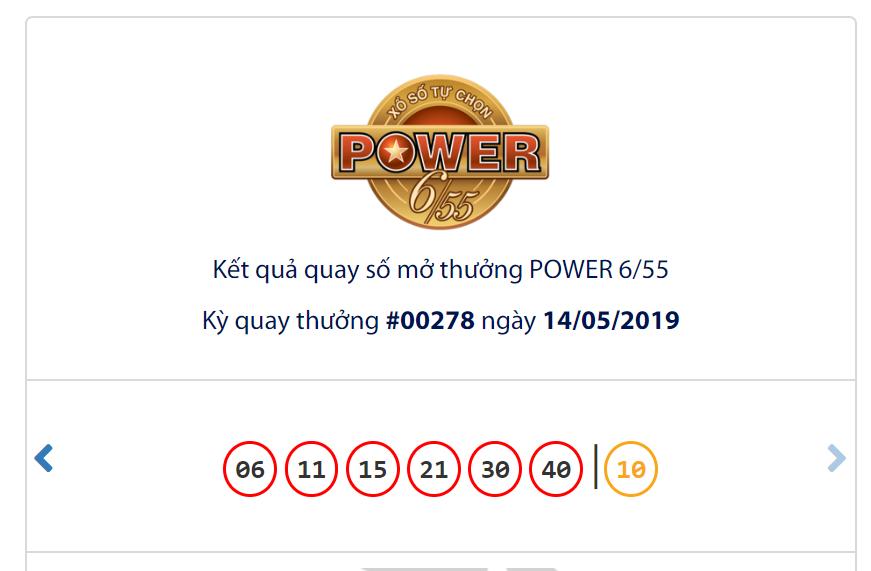 Kết quả Vietlott Power 6/55 ngày 14/5: Jackpot 1 treo 43,6 tỉ đồng vì vô chủ - Ảnh 1.