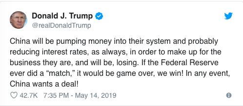 Ông Trump: Nếu Fed giảm lãi suất, Mỹ sẽ giành chiến thắng trong cuộc chiến thương mại - Ảnh 1.