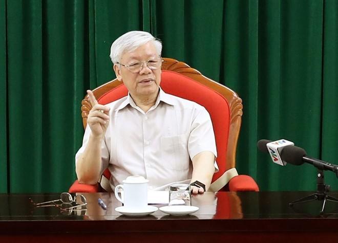 Tổng bí thư, Chủ tịch nước Nguyễn Phú Trọng: Phải tiếp tục cuộc đấu tranh chống tham nhũng - Ảnh 1.