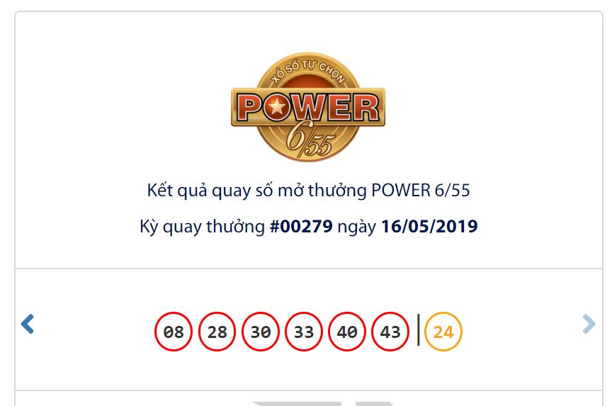 Kết quả Vietlott Power 6/55 ngày 16/5: Jackpot 1 trượt mất chủ nhân khi đạt mốc gần 45,3 tỉ đồng - Ảnh 1.