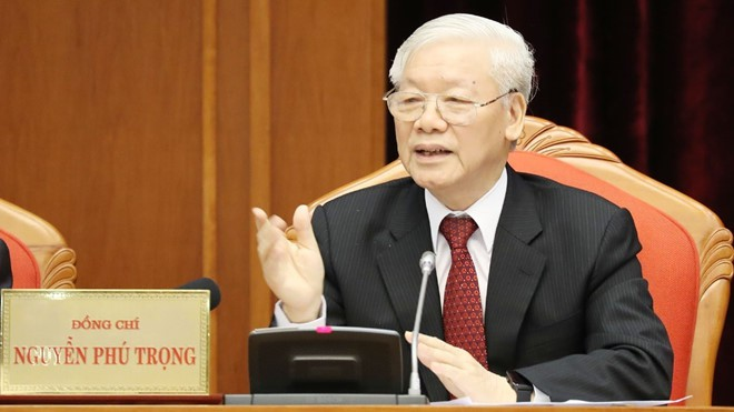 Tổng bí thư, Chủ tịch nước Nguyễn Phú Trọng khai mạc hội nghị T.Ư 10 khóa XII - Ảnh 1.