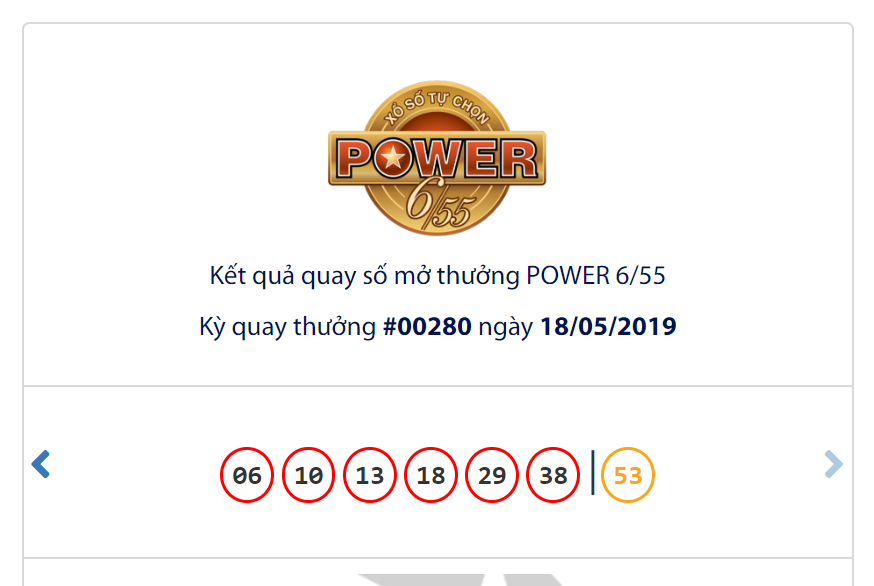 Kết quả Vietlott Power 6/55 ngày 18/5: Jackpot 1 lớn thêm 1,3 tỉ đồng vẫn chưa 'nổ' - Ảnh 1.