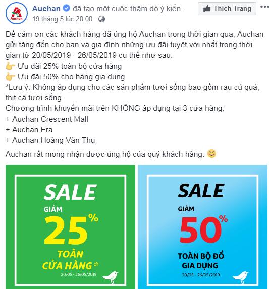 Các nỗ lực tiếp thị, giảm giá cuối cùng của Auchan trước khi rút khỏi Việt Nam - Ảnh 3.