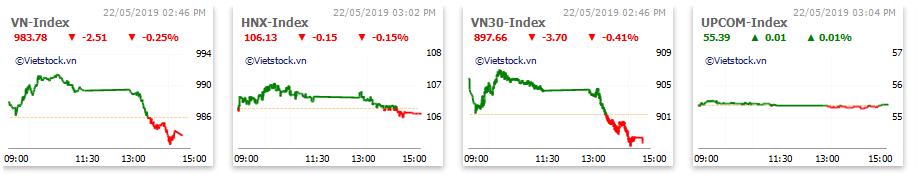 Thị trường chứng khoán 22/5: Lực bán gia tăng, VN-Index mất mốc 985 điểm - Ảnh 1.