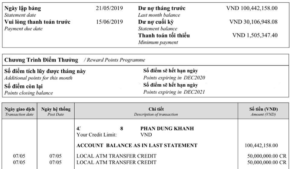 Khách hàng choáng  khi nhận thông báo tiền lãi từ HSBC Việt Nam - Ảnh 1.