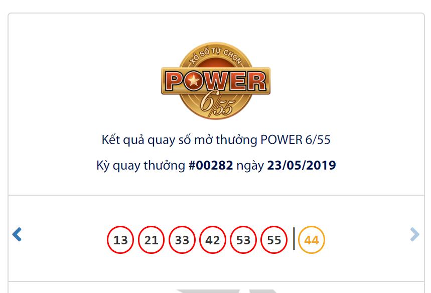Kết quả Vietlott Power 6/55 ngày 23/5: Jackpot 1 trị giá hơn 50,2 tỉ đồng lại trượt chủ nhân - Ảnh 1.