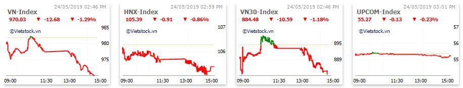 Thị trường chứng khoán 24/5: Xả mạnh nhóm dầu khí, ngân hàng, VN-Index mất gần 13 điểm - Ảnh 1.