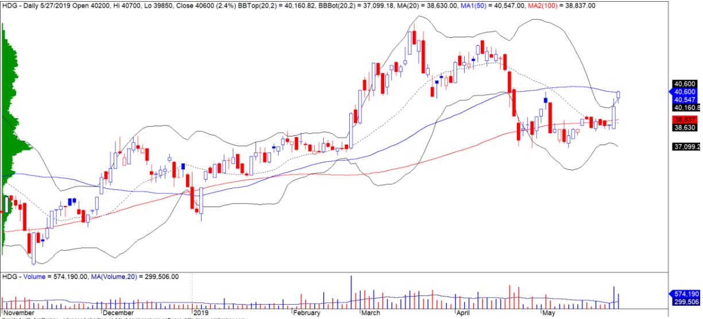 Cổ phiếu tâm điểm ngày 29/5: BSR, HDG, SJS - Ảnh 2.