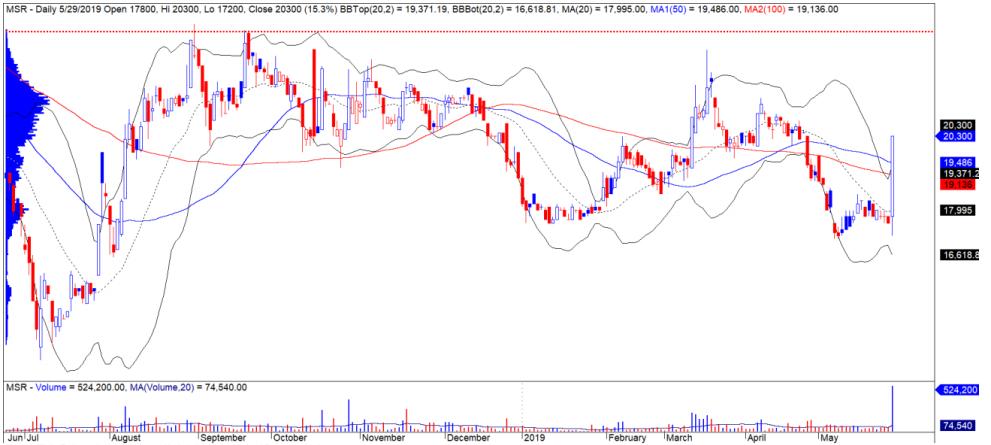 Cổ phiếu tâm điểm ngày 31/5: BMP, LCG, MSR - Ảnh 3.