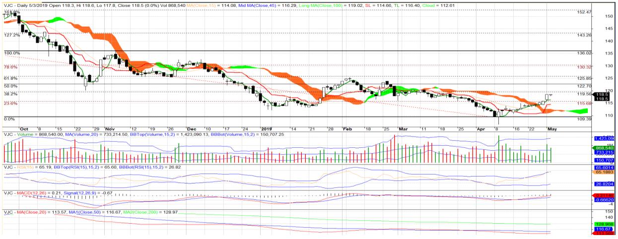 Cổ phiếu tâm điểm ngày 7/5: VJC, VGC, ANV - Ảnh 1.