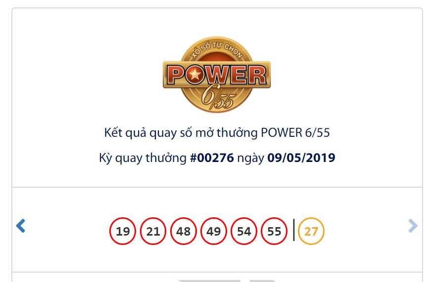 Kết quả Vietlott Power 6/55 ngày 9/5: Đạt hơn 40,6 tỉ đồng, jackpot 1 vẫn vắng chủ - Ảnh 1.