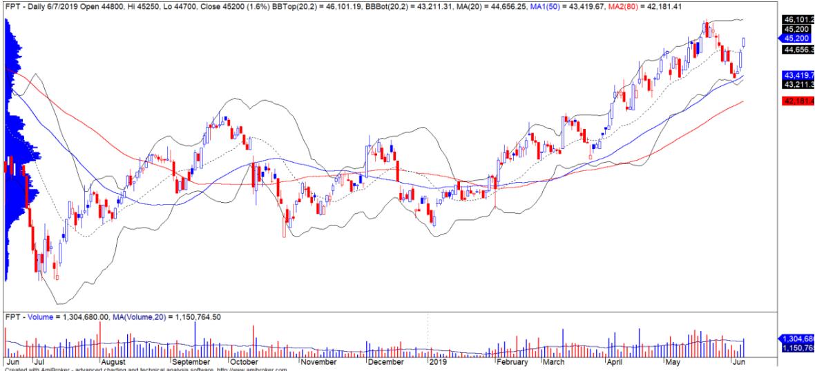 Cổ phiếu tâm điểm ngày 12/6: VRE, SCS, STB, FPT - Ảnh 4.