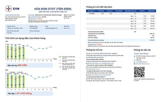 EVN đưa biểu đồ vào hóa đơn mới để khách hàng so sánh tiền điện - Ảnh 1.