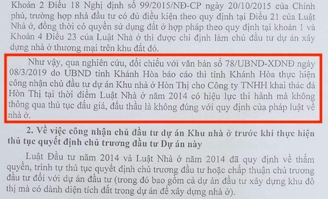 Bộ Xây dựng 'tuýt còi' Khánh Hòa về dự án nhà ở hơn 30ha không đấu thầu - Ảnh 1.