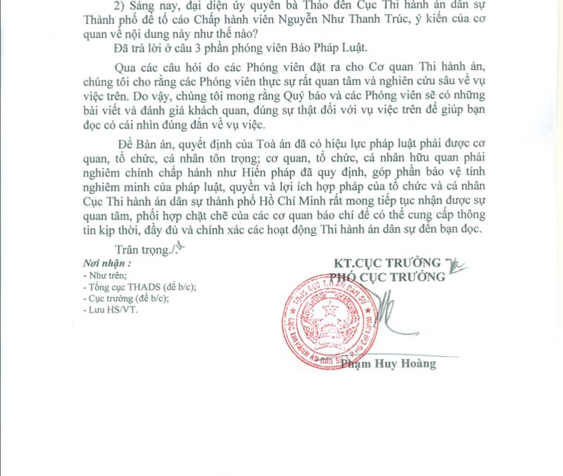 Cục THADS nói về vụ bà Thảo không trả con dấu cho Trung Nguyên - Ảnh 2.