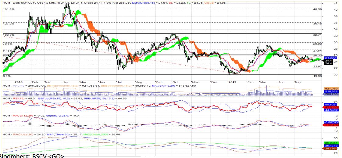Cổ phiếu tâm điểm ngày 4/6: BVH, HCM, HDG - Ảnh 2.