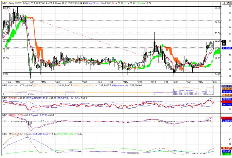 Cổ phiếu tâm điểm ngày 6/6: NBB, VNM, VSC - Ảnh 1.